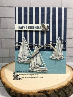 Just Sponge It! – Cindee Wilkinson, Independent Stampin' Up! Demonstrator Just Sponge It! – Cindee Wilkinson, Independent Stampin' Up! Masculine Birthday Cards, Birthday Cards For Men, Man Birthday, Masculine Cards, Sister Birthday, Nautical Cards, Nautical Theme, Beach Cards, Stamping Up Cards