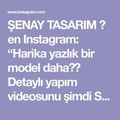 """ŞENAY TASARIM ☆ en Instagram: """"Harika yazlık bir model daha❣😍 Detaylı yapım videosunu şimdi SEDEFLİ TASARIMLAR YouTube kanalımdan izleyebilirsiniz 👍 8/0 kum boncuklarimi…"""""""