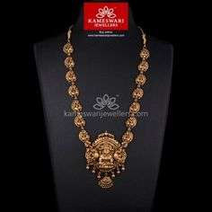 Traditional gold necklaces for women from the house of Kameswari. Shop for antique gold necklace, exquisite diamond necklace and more! Jewelry Design Earrings, Gold Earrings Designs, Gold Jewellery Design, Necklace Designs, Pendant Jewelry, Gold Pendant, Indian Wedding Jewelry, Bridal Jewellery, Indian Jewelry