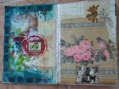 Art journal inspiration. Rambling Rose. Typepad blog. Wallpaper journal book a
