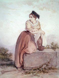Jean Joseph Bonaventure Laurens - Arlesienne from the Time of Daudet and Bizet