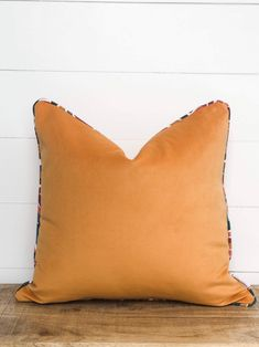 Cushion Cover - Apricot Velvet Cushion Cover with piping