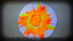 How to make a glossy sun with a salad spinner
