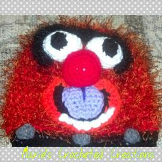 Animal, the muppet. Crocheted hat