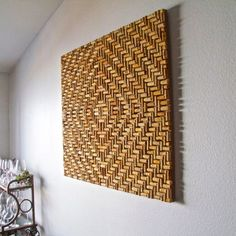image of the Napa Valley Wine Auction, is a wine cork art piece which is a tribute to the many fine and rare wines featured annually at the Napa Valley Wine Auction. Wine Cork Art, Wine Cork Crafts, Wine Art, Wine Bottle Crafts, Diy Deco Rangement, Diy Cork, Napa Valley, Wine Cork Projects, Craft Projects
