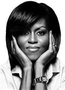 "First Lady, Michelle Obama  ""And in my own life, in my own small way, I've tried to give back to this country that has given me so much. That's why I left a job at a law firm for a career in public service, working to empower young people to volunteer in their communities. Because I believe that each of us--no matter what our age or background or walk of life--each of us has something to contribute to the life of this nation."""