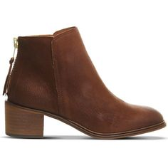 OFFICE Inventive leather ankle boots ($105) ❤ liked on Polyvore featuring shoes, boots, ankle booties, tan leather, tan leather booties, bootie boots, mid heel booties, leather bootie и leather upper boots