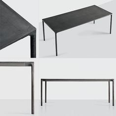 concrete table / dark / simple