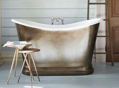 salle de bains baignoire cuivre - Salle De Bain Baignoire Rose