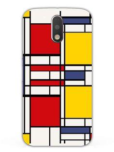 Abstract Art Rectangles - Designer Mobile Phone Case Cover for Moto G4