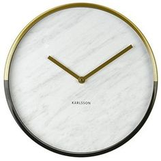 Karlsson Marble Delight Wandklok 30 cm - Wit/goud