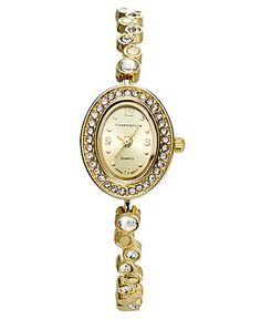 Charter Club Watch, Women's Gold Tone Crystal Bubble Bracelet 23mm - Women's Watches - Jewelry & Watches - Macy's