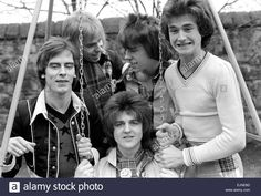 Stock Photo - Bay City Rollers pop group in Edinburgh. Bay City Rollers, Pop Rock Bands, Teenage Dream, Pop Rocks, Still Image, Pop Group, Edinburgh, The Outsiders, Photoshoot