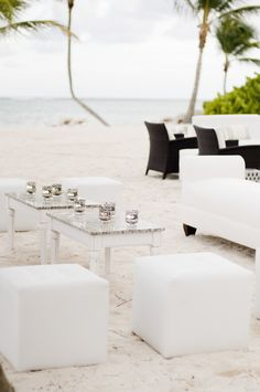 Punta Cana beach lounge. Photography by angiesilvy.com  Read more - http://www.stylemepretty.com/2013/08/20/punta-cana-wedding-from-angie-silvy-photography/
