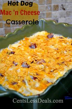 Hot Dog Mac 'n Cheese Casserole recipe, a grown up version!! YUMMY! One of my favorite casseroles!