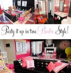 life size barbie dream house party.  dreams really do come true!