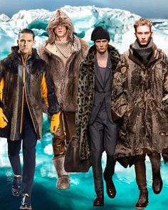 Mens fashion trend forecast: Fall-Winter 2014/2015 themes from TREND COUNCIL Heavy fur with feline prints