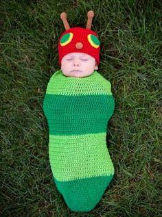 Baby Crochet Cocoon Caterpillar Costume-Must have for baby Gav for Halloween!