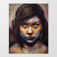 Deeeeeep Una Stretched Canvas by Michael Shapcott