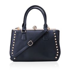 J Francis - Black Leatherette Handbag (14x5x9 in) | Bags & Clutches | Accessories | Online Store | Liquidation Channel Site