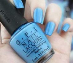 Color Nail Polish Candy Baby Blue