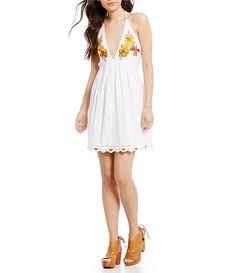e8860814e0 Free People Love And Flowers Embroidered Mini Dress