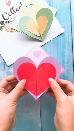 Paper Crafts Origami, Diy Crafts For Gifts, Paper Crafts For Kids, Diy Arts And Crafts, Book Crafts, Fun Crafts, Diy Gifts Videos, Hand Crafts For Kids, Handmade Envelopes