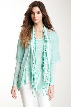 Luma Italian Knitwear Layered Infinity Scarf Sweater Set on HauteLook