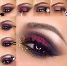 Red & Black Eye Makeup Inspiration