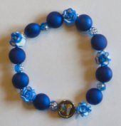 One Decade Blue Rosary Bracelet. Rosary Bracelet, Rosary Beads, Our Lady Of Lourdes, Beaded Necklace, Beaded Bracelets, One Decade, Religious Gifts, Pendant, Blue