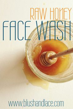 DIY Raw Honey Face Wash, I have stopped using topical acne medication because of this. It's amazing what natural things can do for our body, skin and health.