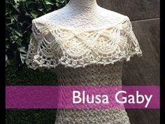 TEJE BLUSA GABY - Crochet Fácil y Rápido - Para Primavera Verano - YouTube