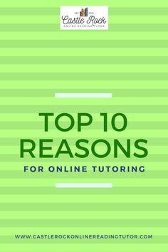 The Top Ten Reasons for Online Tutoring - Castle Rock Online Reading Tutor Reading Assessment, Reading Tutoring, Tutoring Business, Rock Online, Weather Change, Struggling Readers, Online Tutoring, Castle Rock, Chapter Books