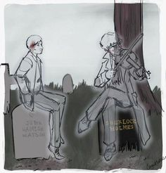 """Ah, John. How wonderful of you to join me…but how terrible that you're here."" [in AU where Reichenbach ended differently] - Imgur"