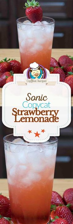 Make your own copycat Sonic Strawberry Lemonade. This Sonic menu item can be made just as delicious when you make it at home.