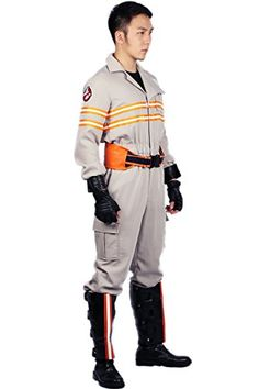 185d4b779b  Halloween Costumes Women  Ghostbusters Costume Deluxe Jumpsuit Embroidery  Logo Cotton Halloween Cosplay Xcoser M   Check out this great product.