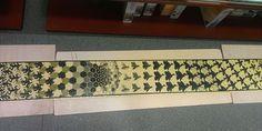 Fragmento 2 de Metamorfosis II de Escher, realizado por cliente de Puzzlemania a la espera de ser enmarcado en nuestra tienda - puzzle 3000 piezas