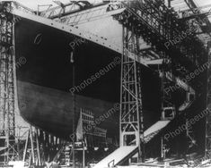 The Titanic Under Construction 1910s 8x10 Reprint Of Old Photo