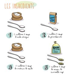 Recettes écologiques : Dentifrice, poudre lave-vaiselle, la lessive, ... Natural Cleaning Recipes, Natural Cleaning Products, Cleaning Solutions, Cleaning Hacks, Zero Waste Home, Diy Organisation, Green Cleaning, Green Life, Home Made Soap