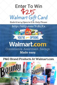 Save Time Shopping With Walmart.com. $25 Walmart Gift Card #Giveaway