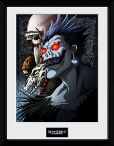 Death Note Poster im Rahmen Shinigami 45 x 34 cm Death Note Serie, Death Note L, Shinigami, Hades, Tsugumi Ohba, Manga Anime, Anime Art, When You Love, Anime Comics