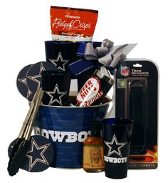 Dallas Cowboys Tailgating Gift Basket. You will score a touchdown when he opens our Dallas