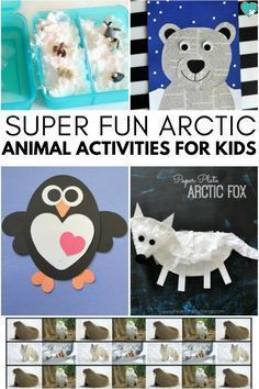 This group of super fun arctic animal activities for kids is a must for any homeschool mom or teacher planning an arctic animal preschool unit study! activities Super Fun Arctic Animal Activities for Kids Animal Activities For Kids, Animals For Kids, Preschool Activities, Winter Activities, Preschool Winter, Children Activities, Baby Animals, Project Finance, Arctic Habitat