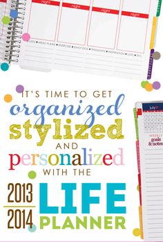 2013/2014 life planners : Erin Condren-I absolutely love my life planner. They have several different covers, but my favorite is the photo collage so I can see photos of the people I love every time I use it!
