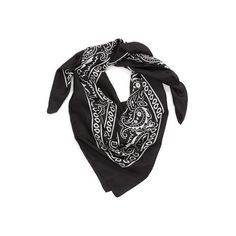 Lulla Collection by Bindya 'Bandana' Silk Scarf ($41) ❤ liked on Polyvore featuring accessories, scarves, bandana, black, lightweight scarves, square silk scarves, silk shawl, pure silk scarves and silk bandana