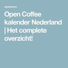Open Coffee kalender Nederland | Het complete overzicht!