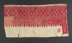 Embroidery  Textile  Moroccan  Creation Place: Fez, Morocco  23 x 45 cm (9 1/16 x 17 11/16 in.)  Harvard Art Museums/Arthur M. Sackler Museum, Gift of Charles Bain Hoyt  , 1927.280