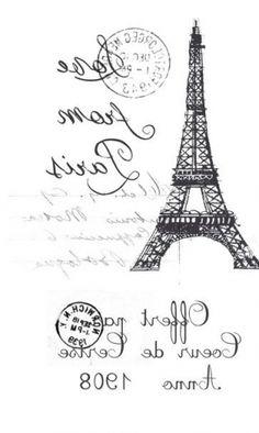 Eyfelleva tower. Paris / Decoupage / Pictures for decoupage