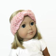 Turban Headband Light Pink 18 Doll Accessories by PreciousBowtique