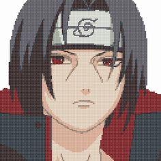 Itachi Naruto Cross Stitch - Punto de cruz